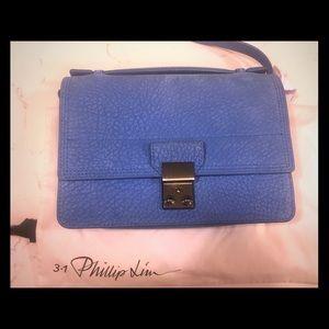 3.1 Philip Lim Pashli Mini Azure Messenger Bag